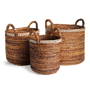 Tall woven basket with handles large sea shell basket large tree basket large water hyacinth basket