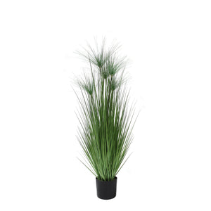 artificial grass plant tall faux grass papyrus grass 4'