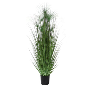 artificial grass plant tall faux grass papyrus grass 6'