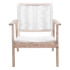 South Port Arm Chair White Wash & White (Set of 2)
