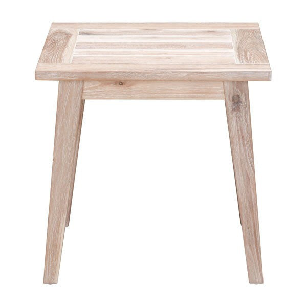 South Port End Table White Wash