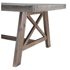 Ford Dining Table Cement & Natural
