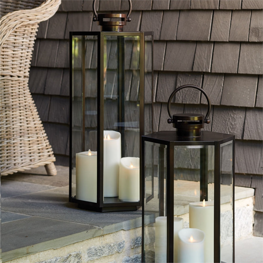 Metal Lantern metal candleholder metal hurricane metal luminary glass lantern