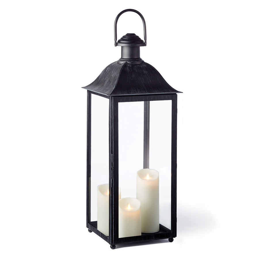 Classic coach house Lantern metal candleholder traditional metal hurricane large glass lantern