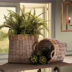 Tall rattan basket with handles large basket with handles large tree basket large rattan basket