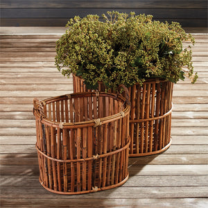 Tall bamboo basket with handles large basket with handles large tree basket large bamboo basket