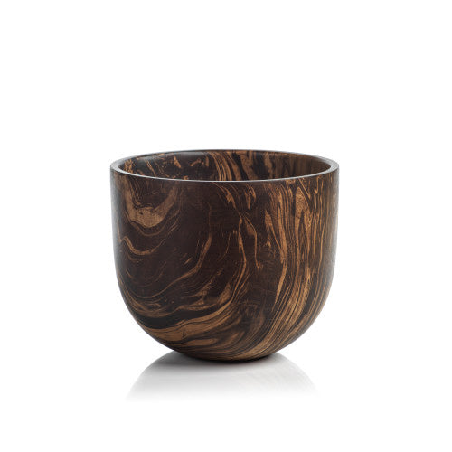 Marbleized Mango Wood Bowl