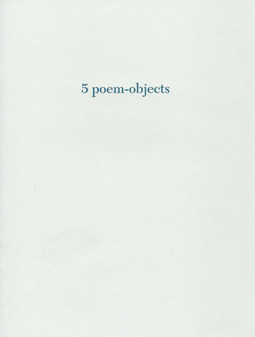 5 poem-objects