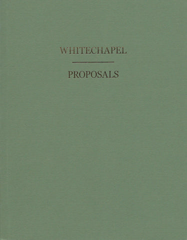 Peter Liversidge: Whitechapel Proposals