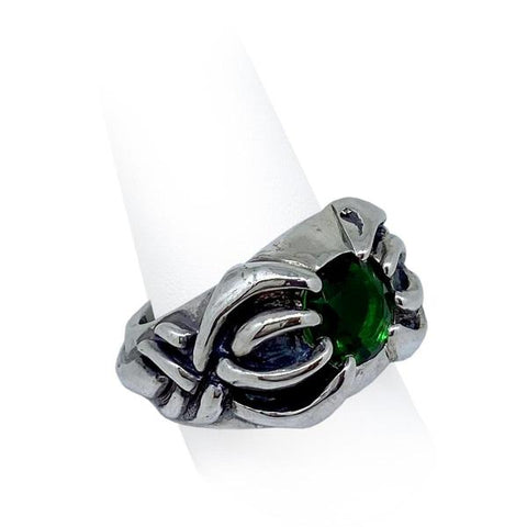 scorpion ring with green stone