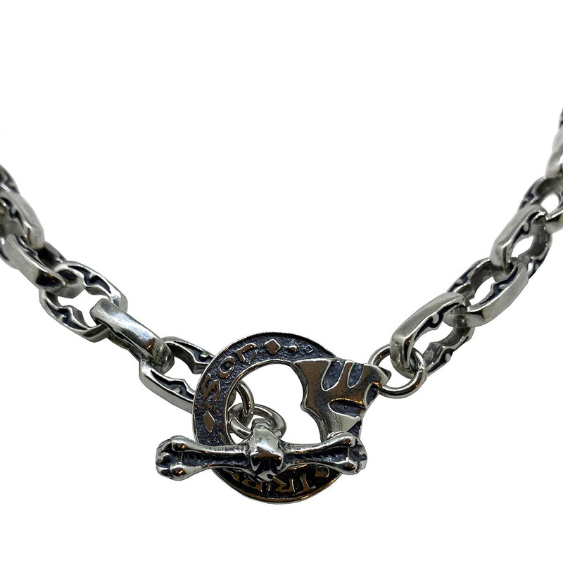 Maori Fishhook on Medium Medieval Chain Necklace