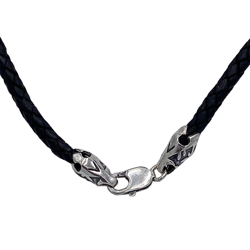 Tibetan Knot on Leather Necklace
