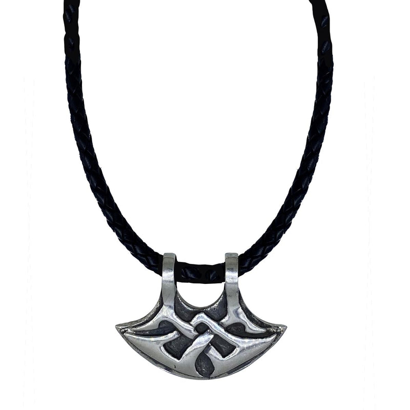 Celtic Axe on Leather Necklace