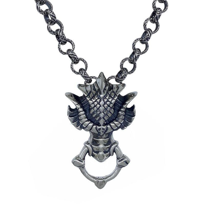 Dragon Head on Monarch Link Chain