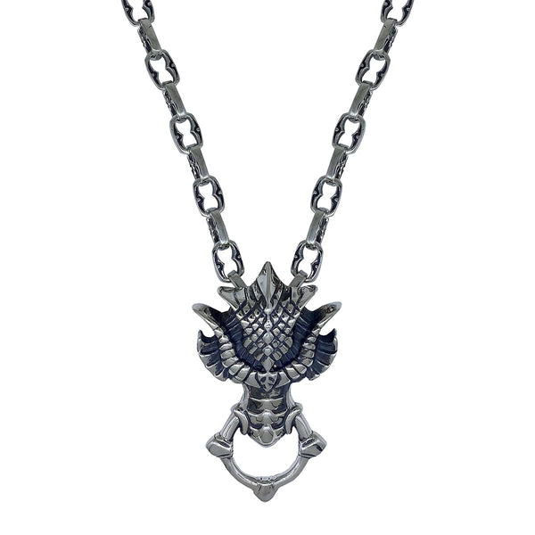 Dragon Head on Medium Medieval Chain