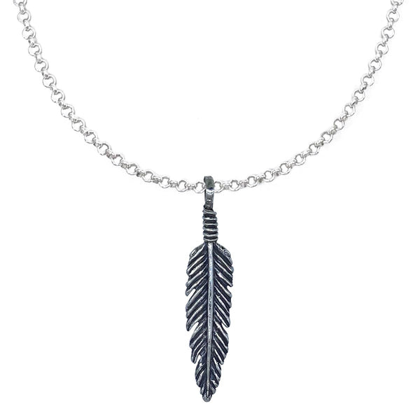 Feather on Extra Small Chain