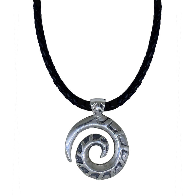 Koru on Leather Necklace