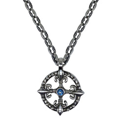 Life Compass on Small Medievel Chain Necklace