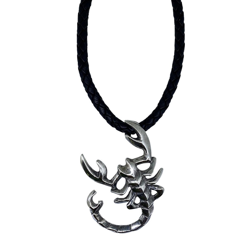 Scorpio on Leather Necklace