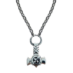 Thor's Hammer on Medium Medieval Chain