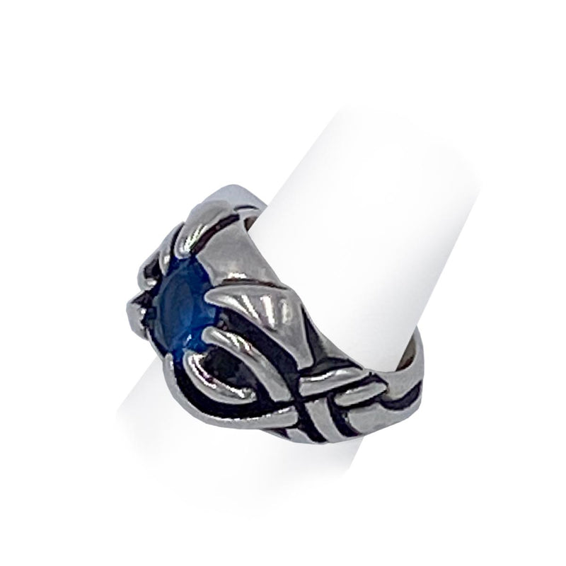 Scorpion Ring with Blue Stone
