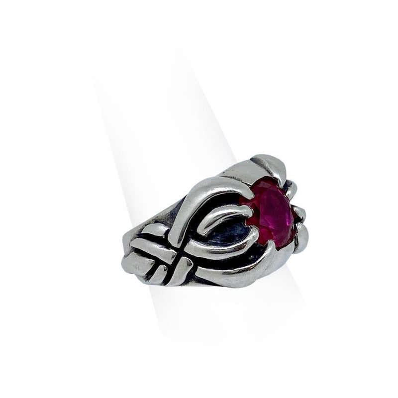 Scorpion Ring with Red Stone