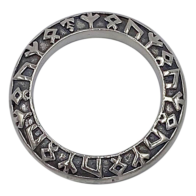 Rune Ring on Small Medieval Chain