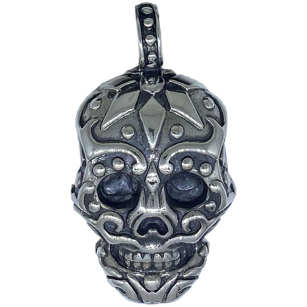 Sugar Skull on Leather Necklace