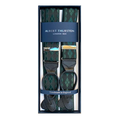Albert Thurston - Bretels, Green & Black, Bretels | NEW TAILOR Webshop