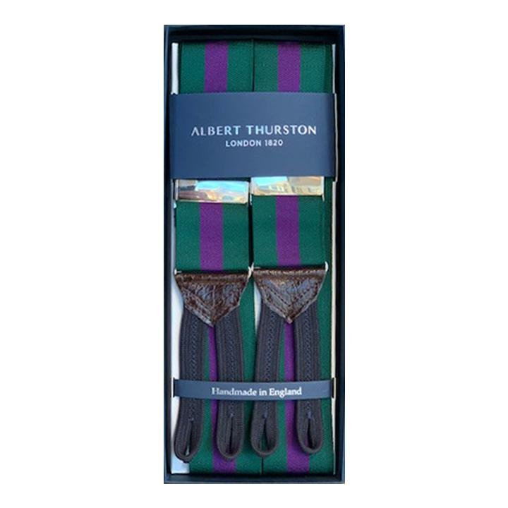 Albert Thurston - Bretels, Green & Purple, Bretels | NEW TAILOR Webshop