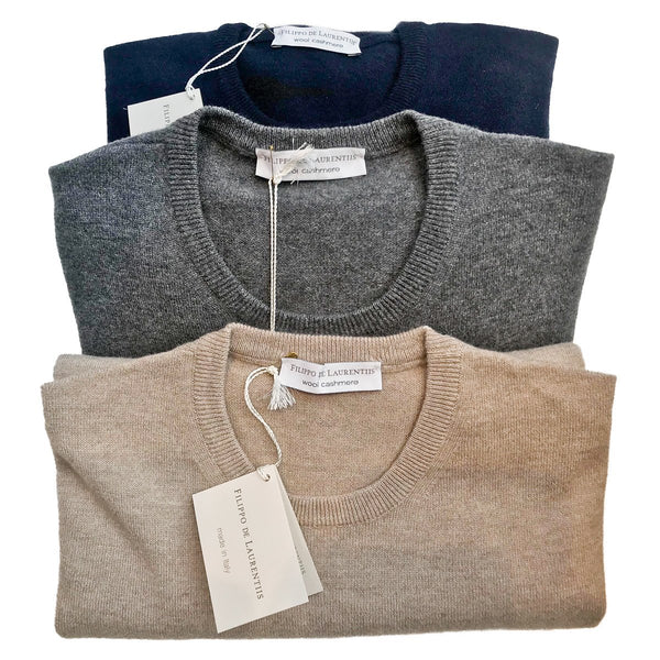 Filippo de Laurentis - Crewneck, Grey, Knitwear | NEW TAILOR Webshop