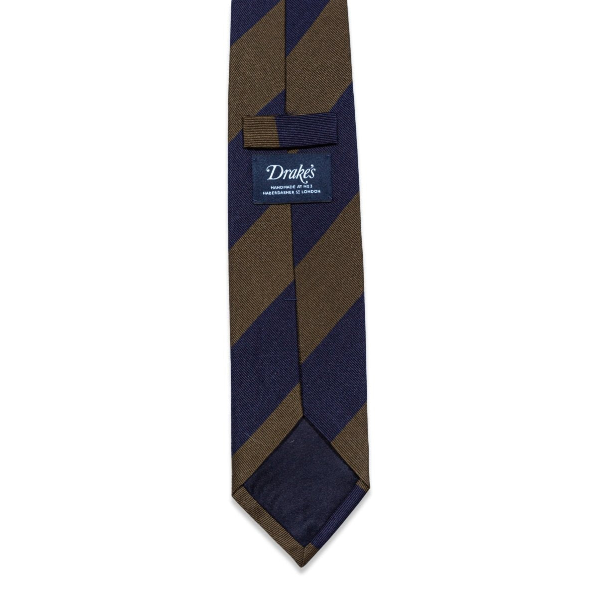 Drake's - Das, Blue & Brown Striped, Dassen | NEW TAILOR Webshop