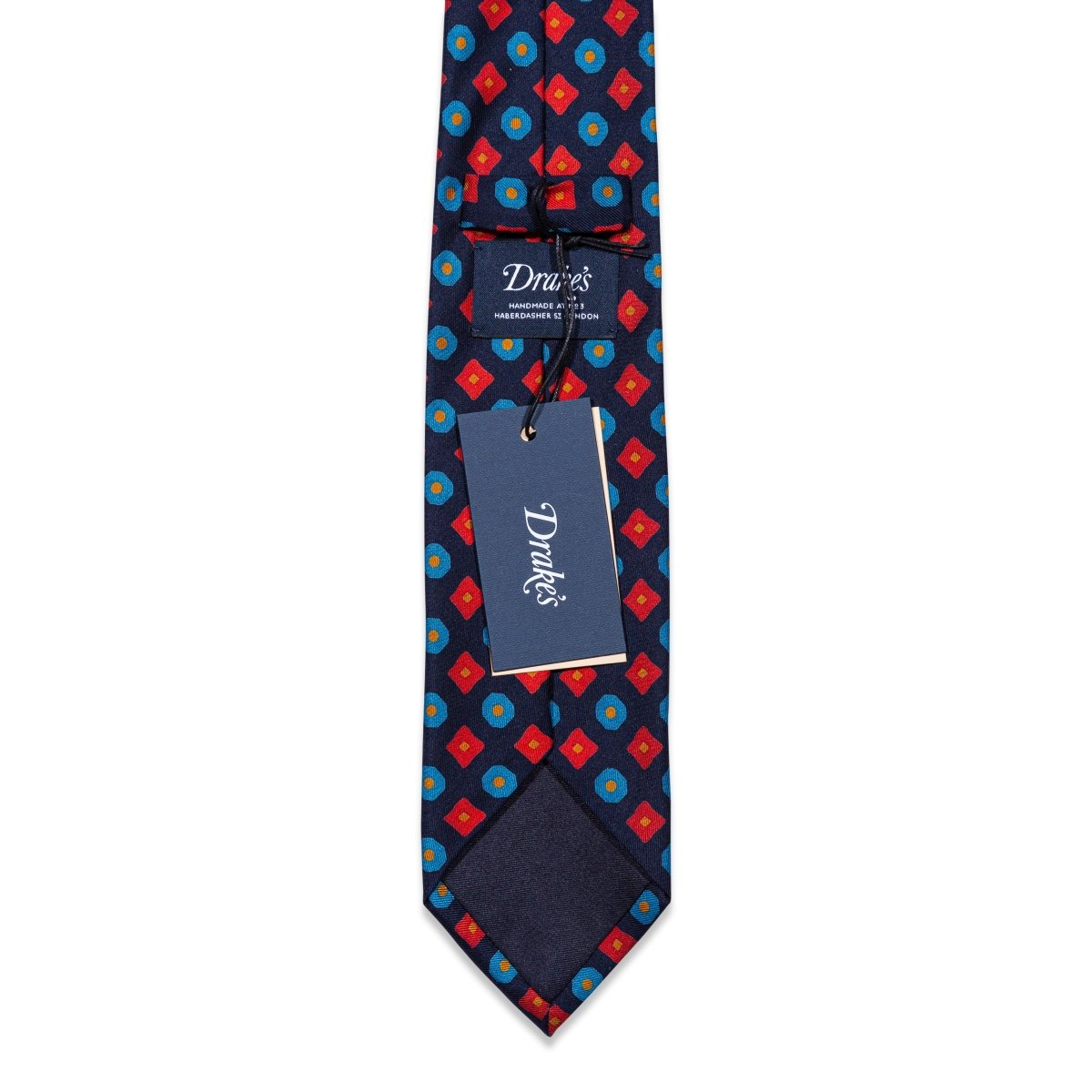 Drake's - Das, Blue & Red Pattern, Dassen | NEW TAILOR Webshop