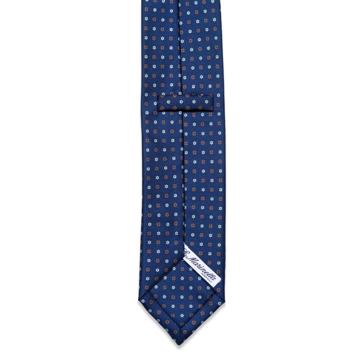 E.Marinella - Das, Blue With Brown Flowers, Dassen | NEW TAILOR Webshop