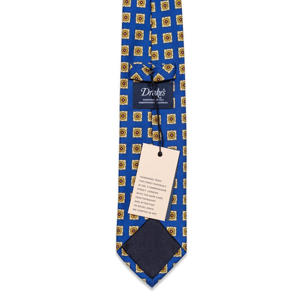 Drake's - Das, Blue & Yellow Pattern, Dassen | NEW TAILOR Webshop