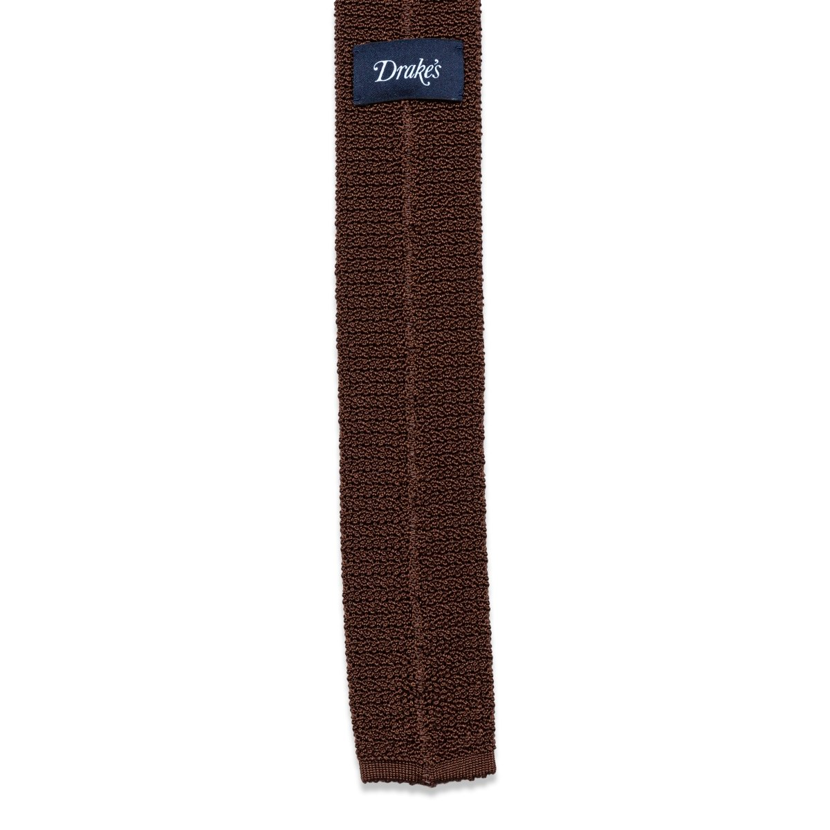 Drake's - Das, Brown knitted, Dassen | NEW TAILOR Webshop