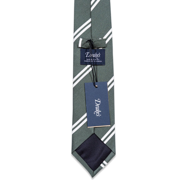 Drake's - Das, Green Striped, Dassen | NEW TAILOR Webshop