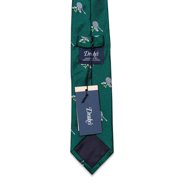 Drake's - Das, Green Tennis Print, Dassen | NEW TAILOR Webshop