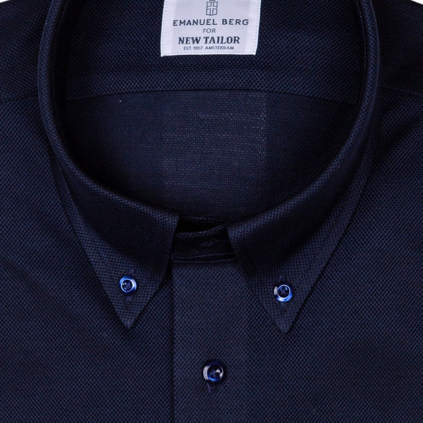 Emanuel Berg - Maatshirt, Dark-Blue Jersey (Smart Casual), Shirt | NEW TAILOR Webshop