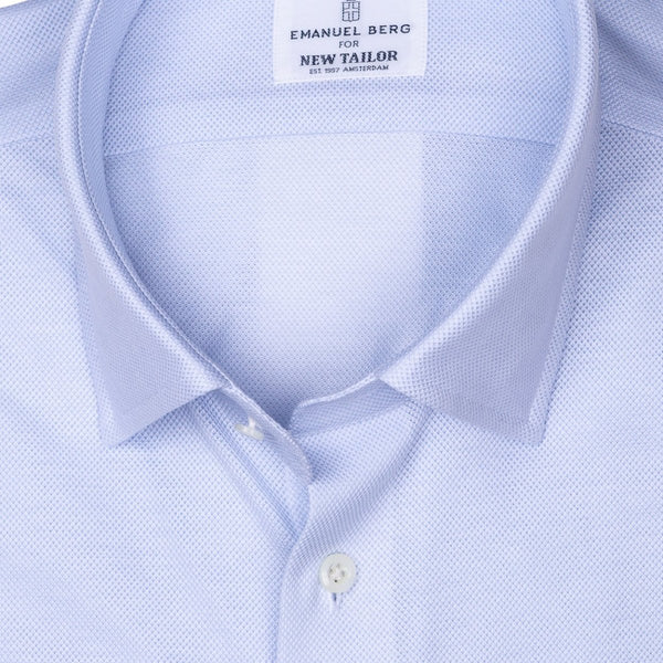 Emanuel Berg - Maatshirt, Pale Blue Plain Jersey (Smart Casual), Shirt | NEW TAILOR Webshop