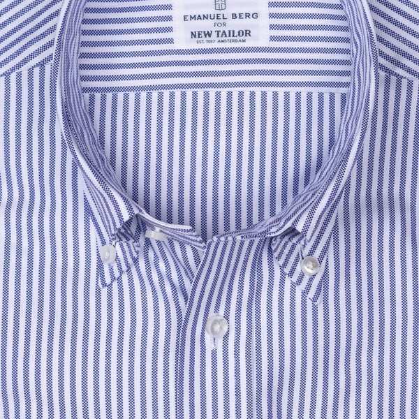 Emanuel Berg - Maatshirt, White-Blue Striped Oxford (Smart Casual), Shirt | NEW TAILOR Webshop