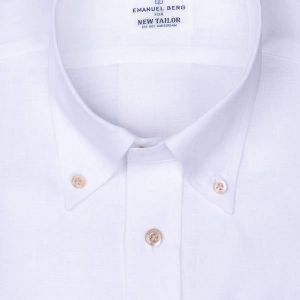 Maatshirt, White Plain Linnen (Smart Casual) - NEW TAILOR | Webshop