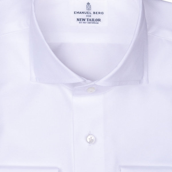 Emanuel Berg - Maatshirt, White Plain Twill (Business Wear), Shirt | NEW TAILOR Webshop