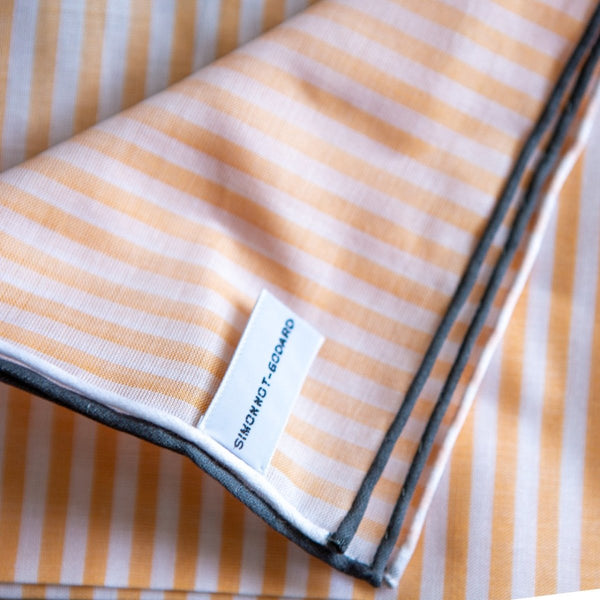 Simonnot Godard - Pochet, Striped Orange, Pochets | NEW TAILOR Webshop