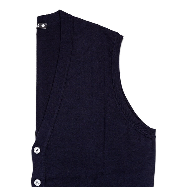 Andrea Fenzi - Vest, Dark Blue Knitted, Knitwear | NEW TAILOR Webshop