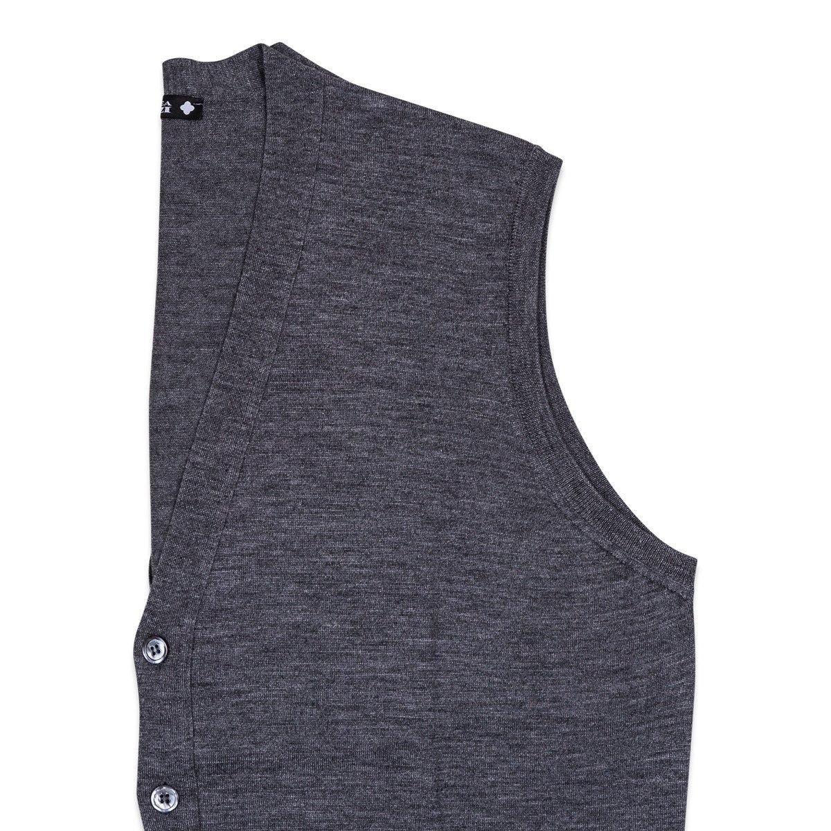 Andrea Fenzi - Vest, Grey Knitted, Knitwear | NEW TAILOR Webshop