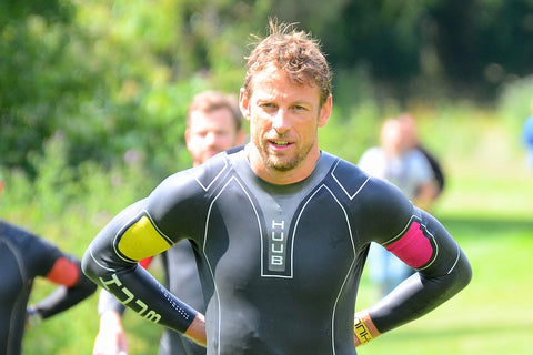 Jenson Button taking part in the Derby held Jenson Button Triathlon 2015