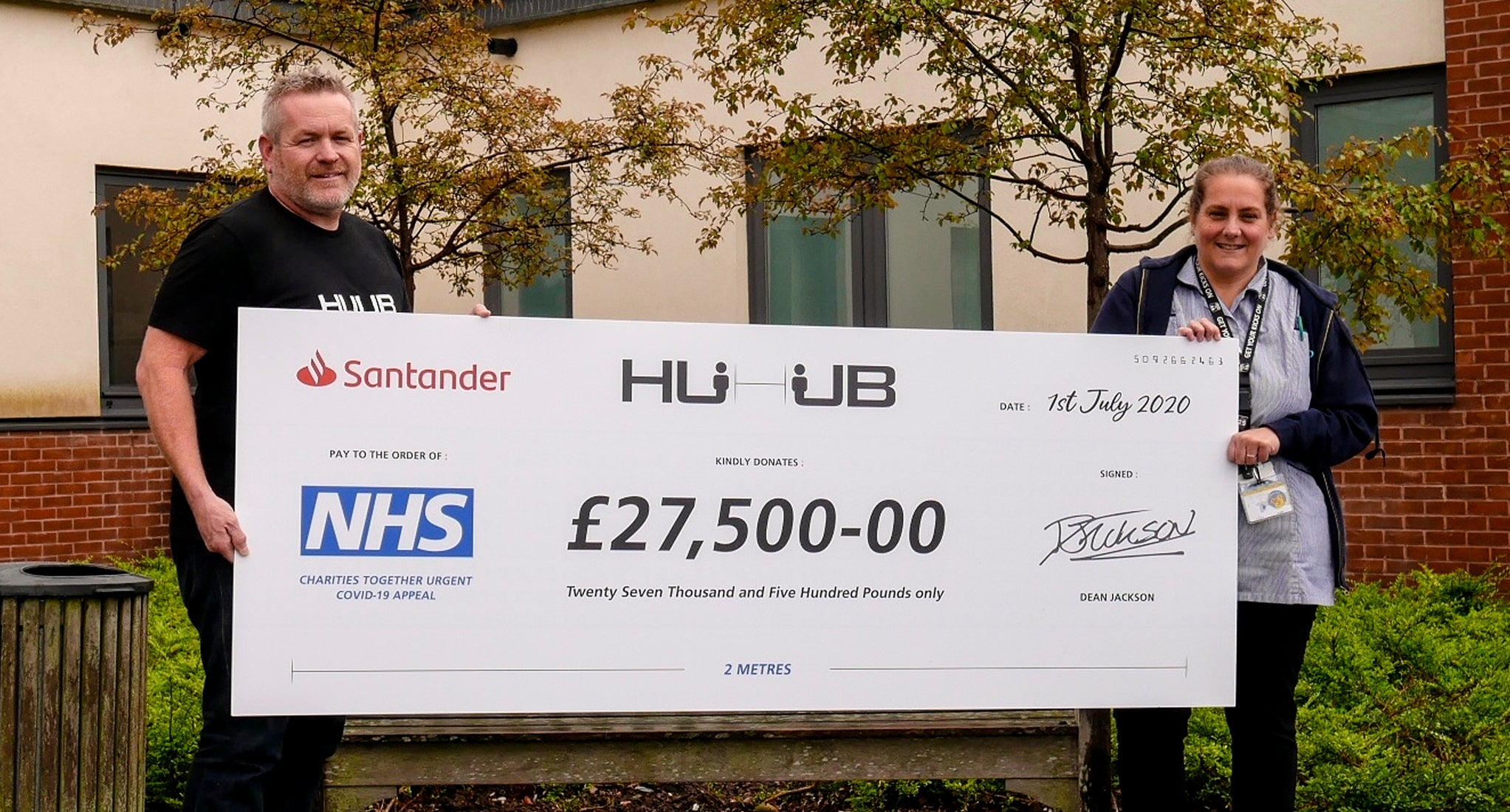 NHS Donation Cheque Handover