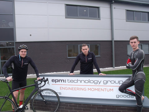 Three man team from epm:technology have entered the Jenson Button Trust Triathlon 2016