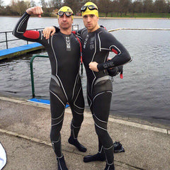 Radio 1 DJ Greg James and Professor Greg Whyte OBE training for Sport Relief challenge
